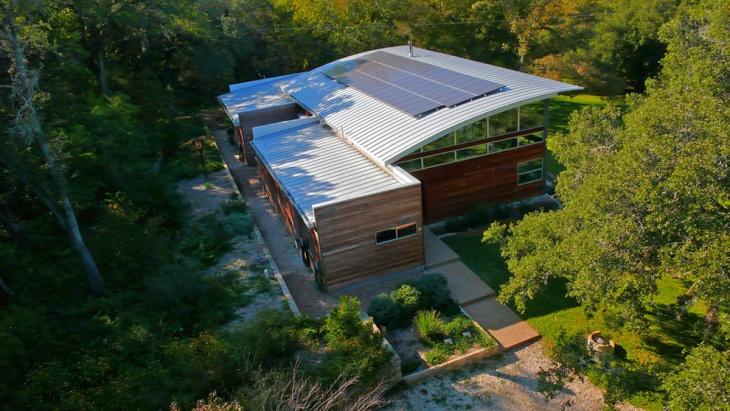 exterior modern house roof idea