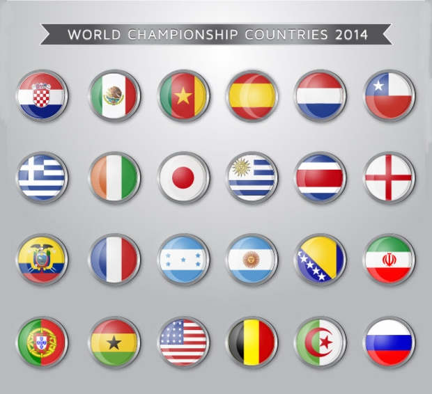 world champion flag vectors