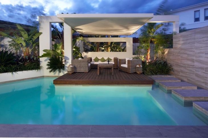 poolside modern roof design
