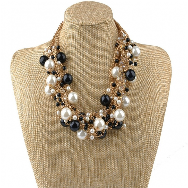charm bib necklace