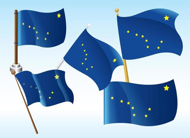 Alaska Flag Vector