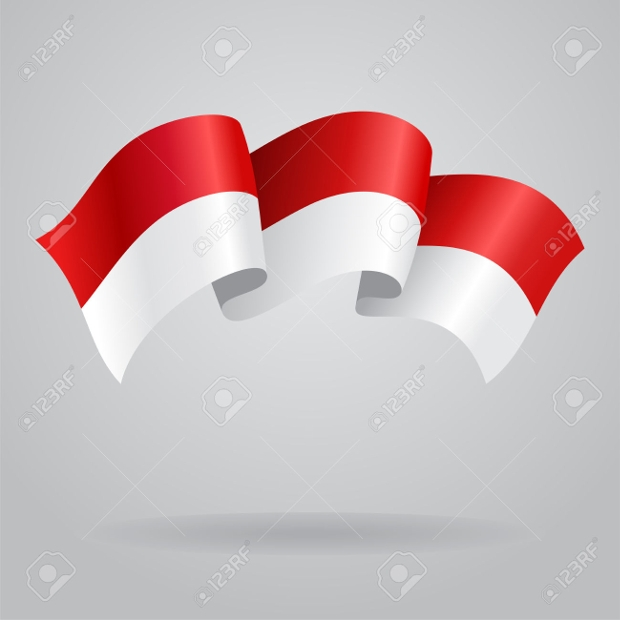 indonesia waving flag vector illustration