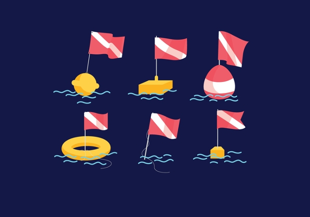 dive flag vector design