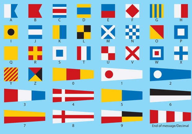 nautical flag vector design