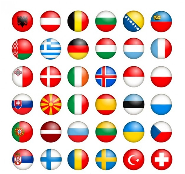 european flags collection free vector