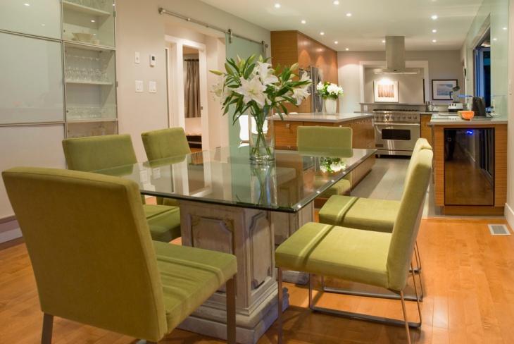 glass rectangular dining table