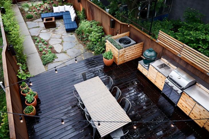 rectangular outdoor dining table