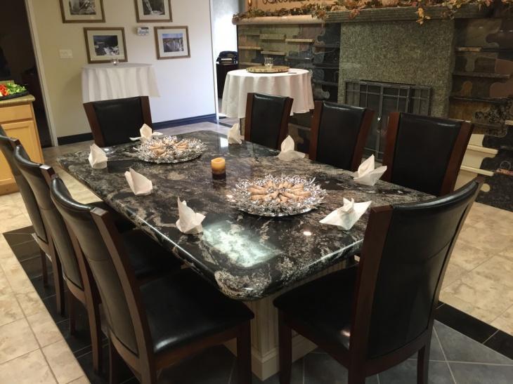 granite rectangular dining table