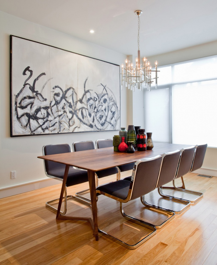 modern rectangular dining table
