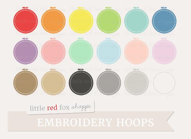 Emdroidery Hoop Clipart