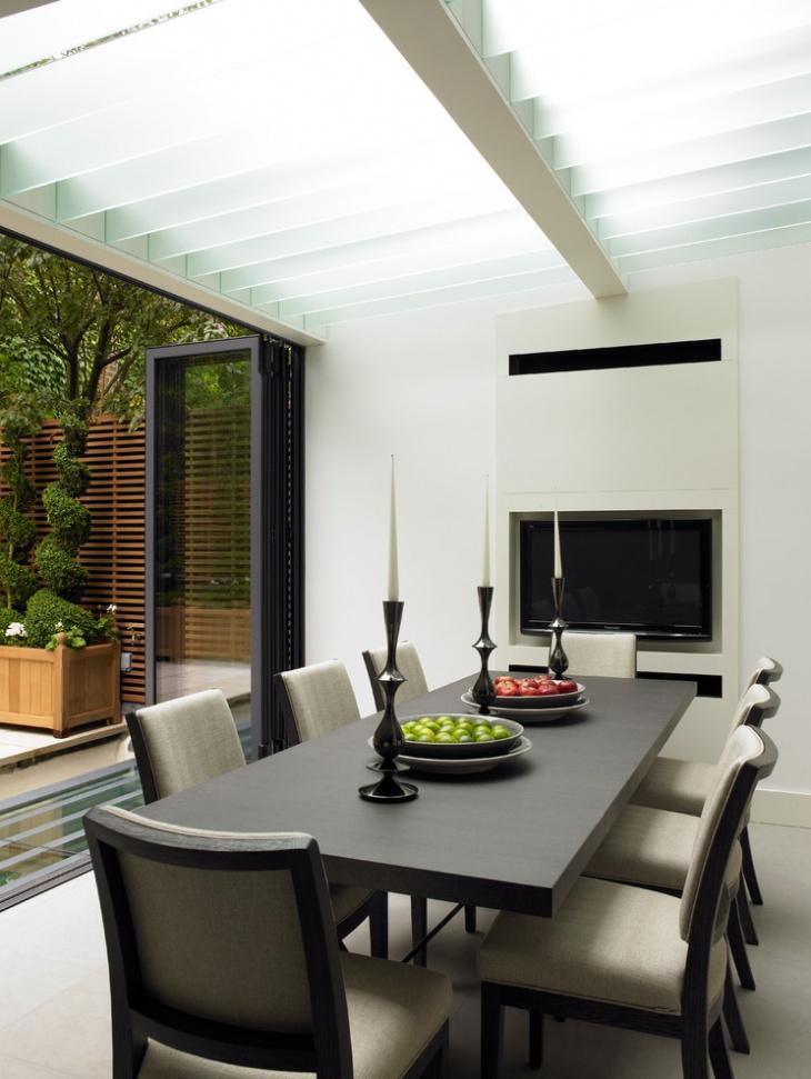 Black Rectangular Dining Table