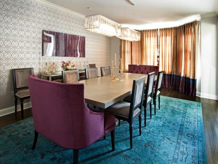 Rectangular Dining Table Lighting Idea