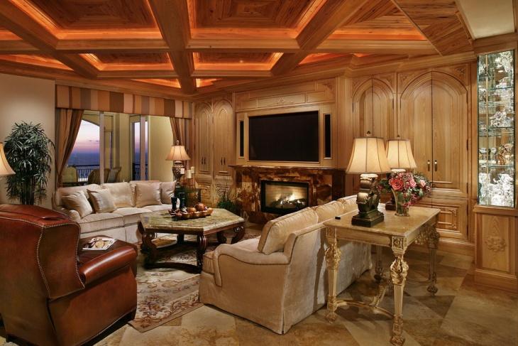 rustic ceiling light design