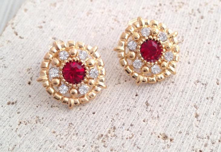 opal stud earrings design