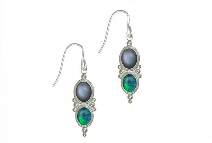 Opal Moonstone Earrings