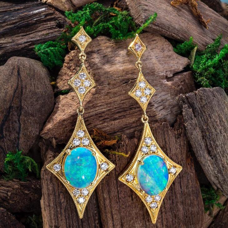 beautiful opal earrings idea