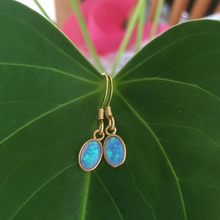 cute opal earrings idea