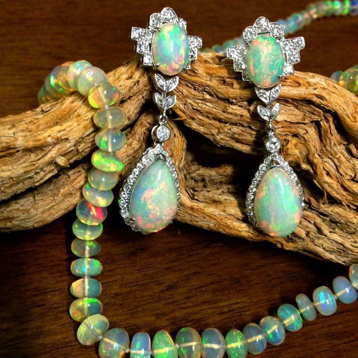 elegant opal earrings