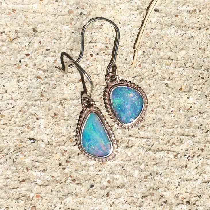 Australian Opal Earrings Design