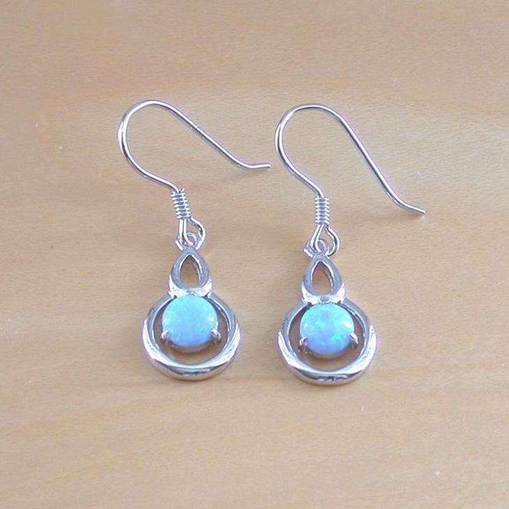 Simple Opal Earrings