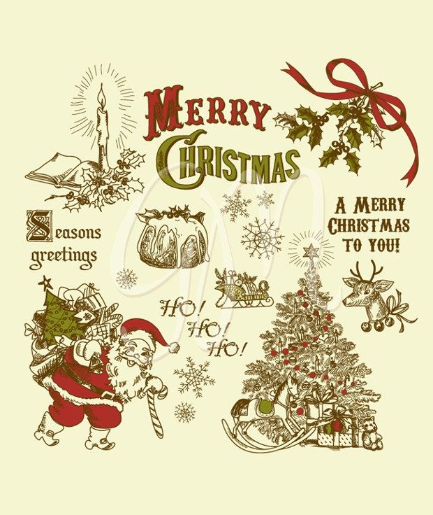 Christmas Vintage Clipart