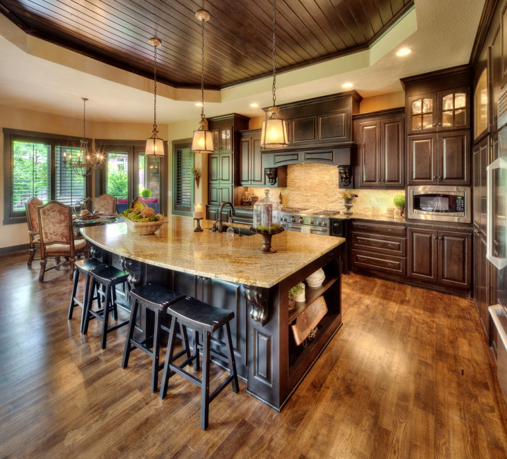 Traditional Open Concept Kitchen: 17+ Tuscan Kitchen Designs, Ideas