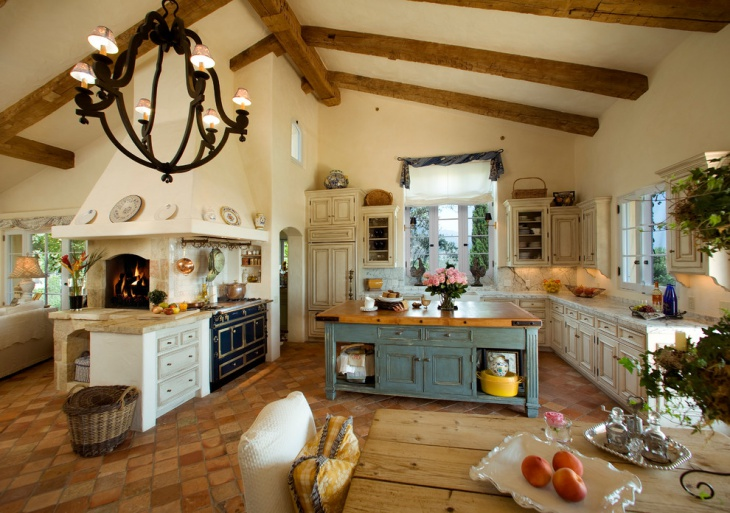 tuscan country kitchen design idea