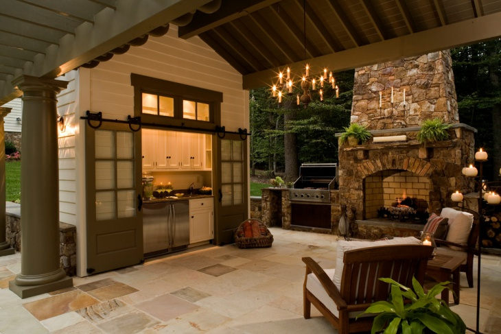 outdoor tuscan kitchen
