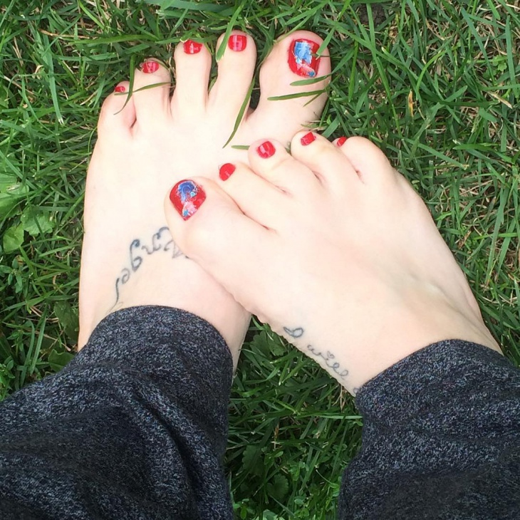 Red Toe Nail Design