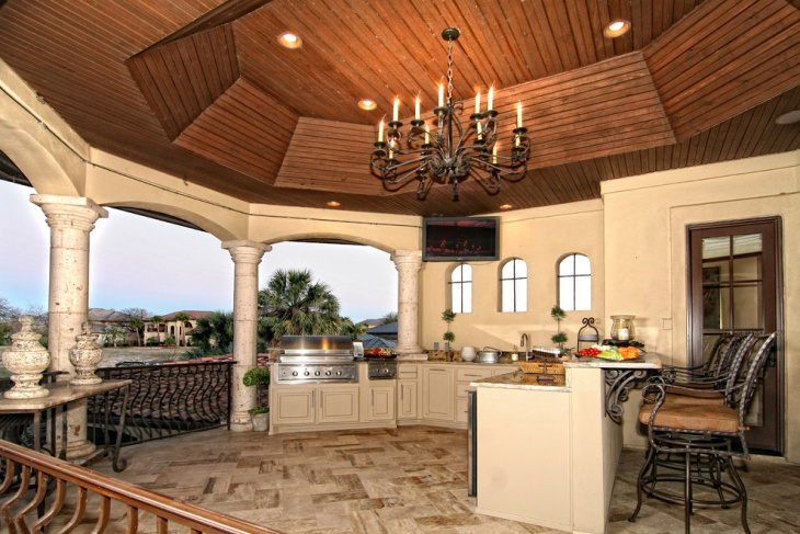 lake side tuscan kitchen idea
