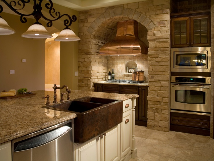 tiny tuscan kitchen idea