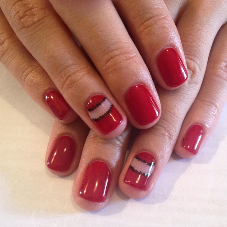 Simple Red Nails Manicure