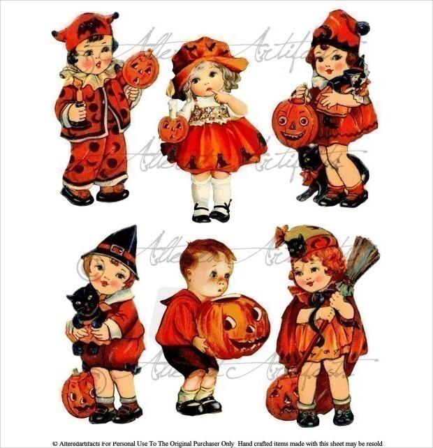 Vintage Halloween Cliaprt