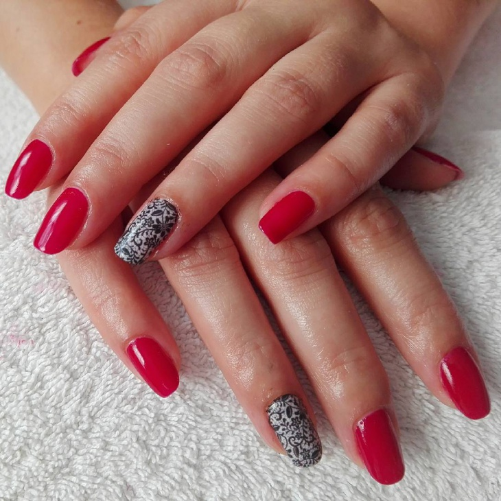 Beautiful Red Nail Design Idea - 21+ Red Nail Art Designs, Ideas Design Trends - Premium PSD