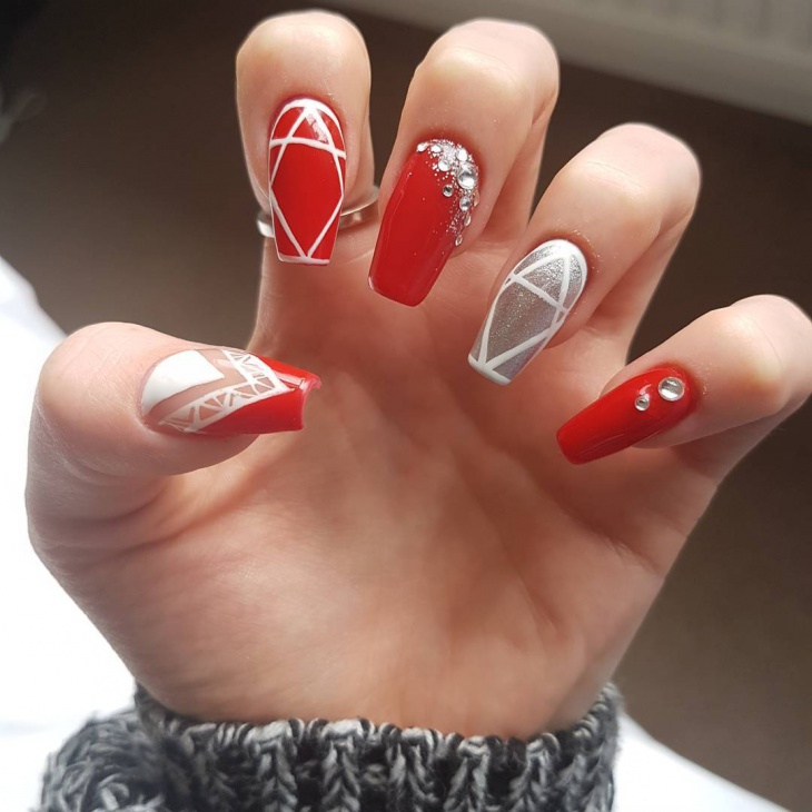 Red Nail Art for Long Nails - 21+ Red Nail Art Designs, Ideas Design Trends - Premium PSD
