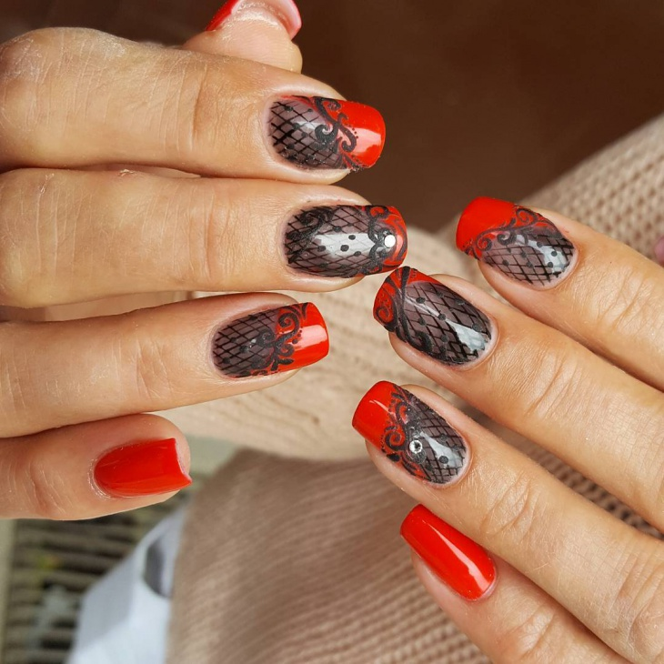 Awesome Red Nail Art Idea