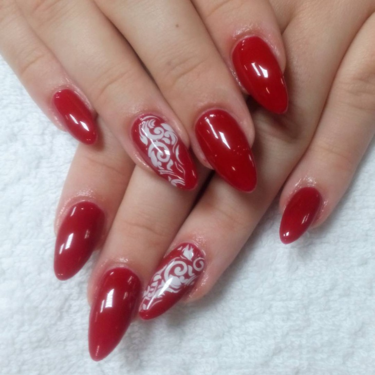 21+ Red Nail Art Designs, Ideas