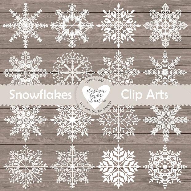 Rustic Snowflake Clipart