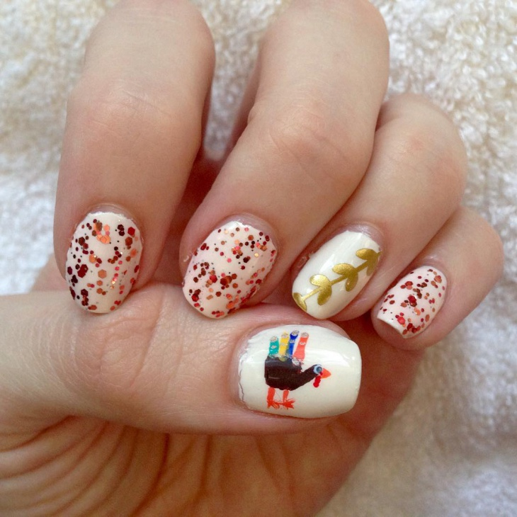 thanksgiving holiday nail design