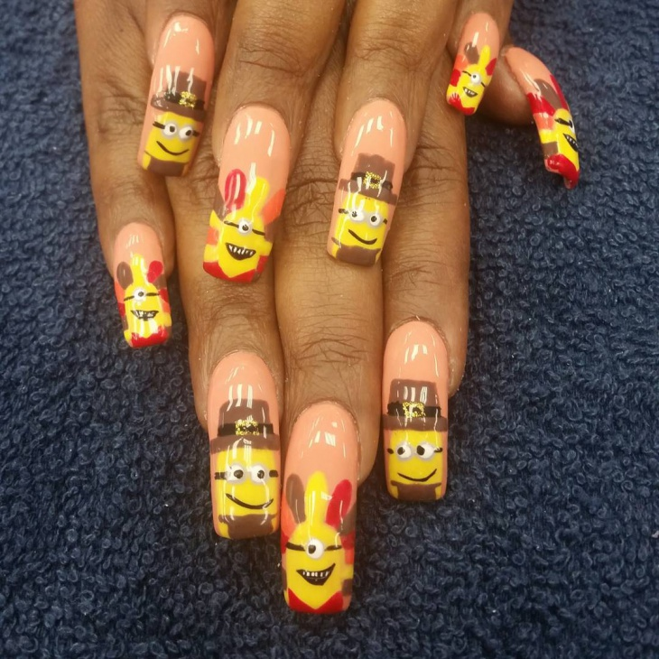 fun thanksgiving nail art design