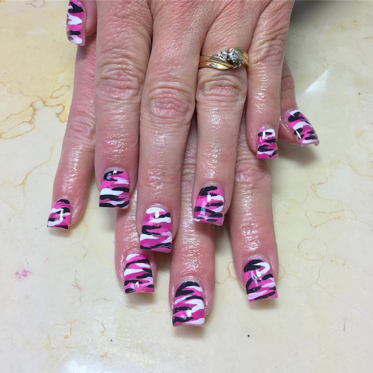 Pink Camo Nail Art Designs The Best Inspiration For Design And