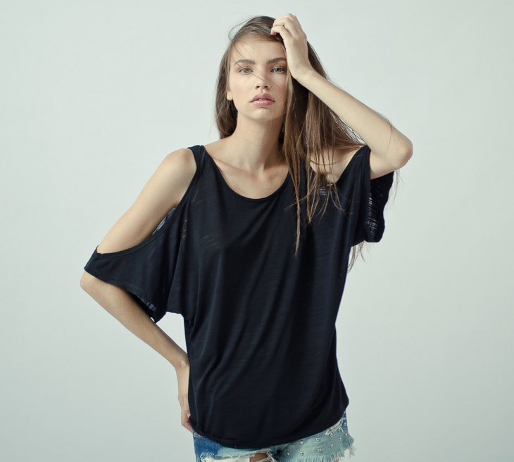 off shoulder cut t shirt design