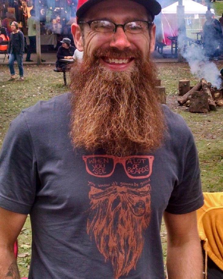 funny beard t shirt design