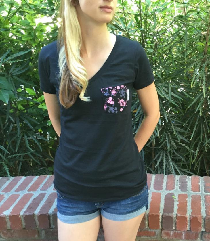 floral pocket t shirt design