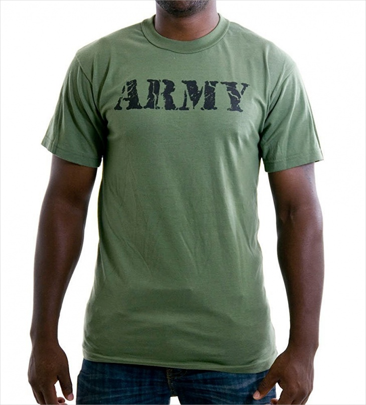vintage military t shirt design