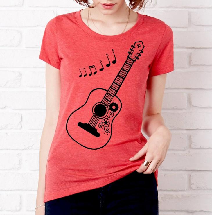 music note t shirt design