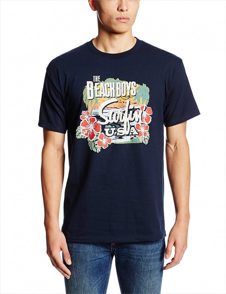 tropical beach t shirt