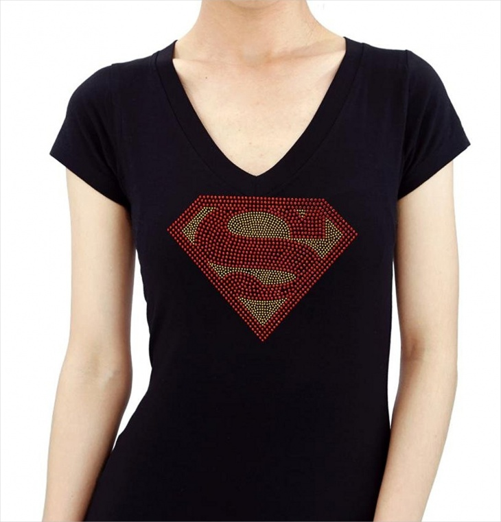 superman bling t shirt