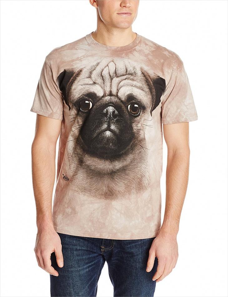 pug 3d t shirt design