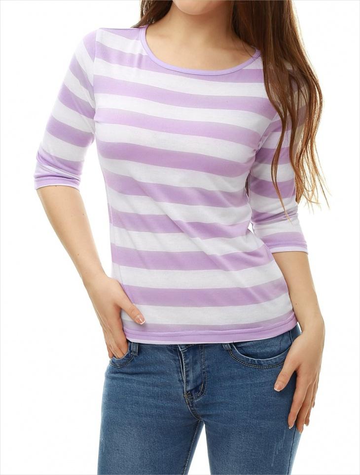 horizontal striped t shirt